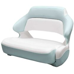 Robalo Boat Helm Seat 31.00667 | Extra Wide Bolster White Seafoam Green