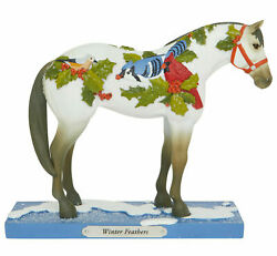 Enesco Trail Of Painted Ponies Winter Feathers Figurine 1e 6007463 Brand New