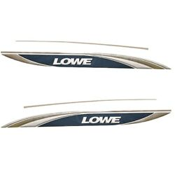 Lowe Boat Hull Decals 625524   Navy Taupe Silver Set Of 4