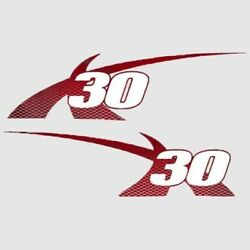 Mastercraft Boat X-30 Decals 7501655   2012 Pro Tour Red Set Of 2