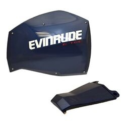 Evinrude Boat Engine Side Panel 0285883 | E-tec W/ Front Blue Stbd