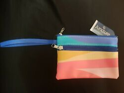 Handbag Small Wristlet Women Pouch Colorful Abstract Wavy Spring Colors $4.00