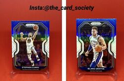 2020-21 Panini Prizm Stephen Curry Red White Blue And Blake Griffen Lot Prizm Sp