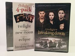 The Twilight Saga 5 Movie Dvd Ws New Moon, Eclipse, Breaking Dawn Parts 1 And 2