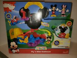 D31 Fisher-price Disney Mickey Mouse Fly 'n Slide Clubhouse 2 Sided Play