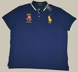 New S L Xl Xxl Polo Mens Big Pony Shirt Classic Fit Blue Polo Top