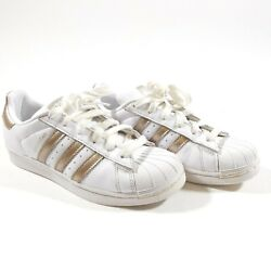 Adidas Superstar Womenand039s Size 6.5 Us Cg5463 White Metallic Copper Rose Gold