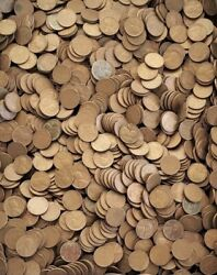 Lot Of 5000 50 Wheat Pennies - Mixed And Unsearched Box Of Lincoln Cents