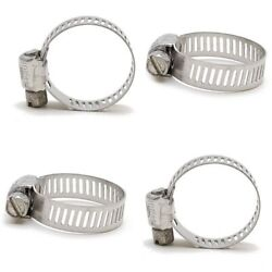 Ideal Stainless Steel 1/2-1 Inch Boat Hose Clamps 4 Set