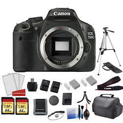 Canon Eos 550d Reb Dig. T2i Camera Body - Kit With 128gb Memory Card + More