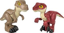 Fisher-price Imaginext Jurassic World Dino Attack Pack T.rex And Raptor Figures