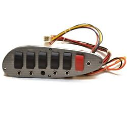 Harris 12 X 4 Inch Pewter Marine Plastic Scaled Boat Switch Panel W/ Breakers