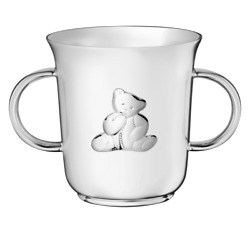 Christofle Charlie Bear Baby Cup Silver Plated