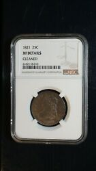 1821 Capped Bust Quarter Ngc Extra Fine Silver 25c Coin Priced To Sell Now