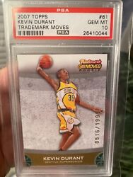 Psa 10 2007 Kevin Durant Topps Trademark Moves Low Population 16 Rookie Super Ra