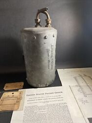 Antique Lawton And Gibson Upright Boiler With 1875 Original Patent Paperwork / Fm