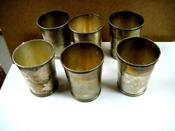 Vintage Stieff Sterling Silver Mint Julep Tumblers-six Pieces Matching