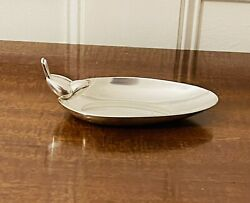 Art Deco Christofle Silver-plate Ash Tray Or Nut Dish With Bird Form Handle