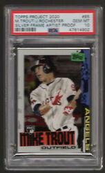 2020 Topps Project Mike Trout Jacob Rochester Artist Proof 14/20 Psa 10 W/ Box