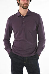 Brunello Cucinelli Men T-shirts And Tops Cotton Long Sleeve Slim Fit Polo Shirt