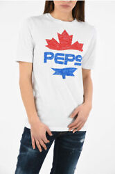 Dsquared2 Women T-shirts And Tops Pepsi Printed Renny Fit T-shirt White