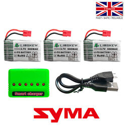 Syma X5hc X5hw Rc Drone 30c Battery + Charger Kit - 3.7v 500mah Lipo - 752540
