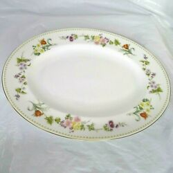 Wedgwood Mirabelle Bone China Oval Platter R4537 Floral 14 X 11 Inch Gold Trim