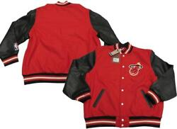 New Miami Heat Mens Sizes Mitchell And Ness Wool/leather Jacket Coat 575