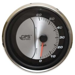 Faria Boat Gps Speedometer Gauge Gsc071a   4 1/4 Inch Silver Black