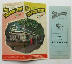 Rare 2 Pc Promotional Brochure For The Shepard Farm, Greenville New York Closed
