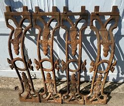 Antique Ornate Cast Iron Dining/kitchen/desk/workbench Table Legs Classic 30