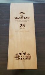 Macallan Fine Oak Whisky 25 Years Wooden Box Only Used Decoration Whiskey Scotch