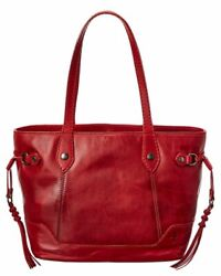Frye Melissa Leather Carryall Tote Women#x27;s Red $164.99