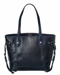 Frye Melissa Leather Carryall Tote Women#x27;s Blue $148.99