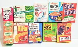 Vintage Mini Empty Cereal And Other Goods Boxes - Lot Of 10