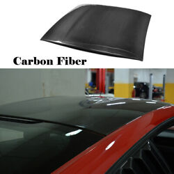 Fit For Ford Mustang Gt Coupe 2-door 15-17 Car Top Roof Cover Trim Carbon Fiber