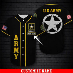 Personalized You Us Army Military Lovers Baseball Jersey Custom Name Size S-4xl