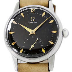 Omega 1952s Seamaster Black Honeycomb Tropical Dial Sub Second Menand039s Watch