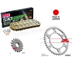 Gold X-ring Rk Japanese Chain And Jt Sprocket Kit For Yamaha Fj1200 91 To 94