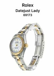 Ladies Rolex Datejust Two Tone Gold/silver 69173 Vintage Circa Approx. 1992