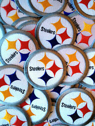 25 Nfl Pittsburgh Steelers Nfl Iron-on Patches.mint.lot.fast Ship.afc Close Out