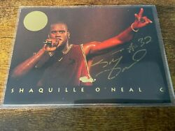 1993 Classic Images Shaquille Oand039neal Shaq Gold Auto Low Pop 51/994 Hof Lakers