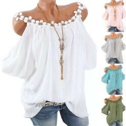 Women Summer Casual Crew Neck T Shirt Short Sleeve Solid Tops Loose Blouse Tunic $13.76