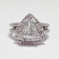1.30 Ct New Real Round Diamond Wedding Ring Solid 18k White Gold Size M N O P Q