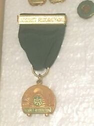 Rare Issue 1950's Deseret Recognition Award Lds Religious Scout Medal