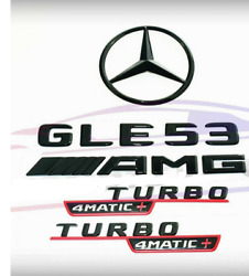 For Mercedes Emblem Star Boot Trunk Gle53 Amg Turbo 4matic+ Black Red Coupe C167