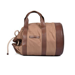 Brunello Cucinelli Menand039s Two Tone Leather/poly Blend Bucket Bag/sack/tote