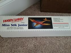 Hobby Lobby Hlar013 Miss Stik Junior Balsa Wood 40 Wingspan