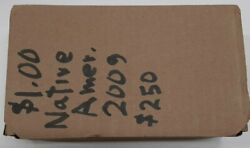 2009 Mint Unknown Sealed Box Of 250 Sacagawea Native American 1 Dollar Coins