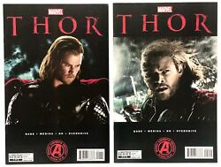 Marvel's Thor Adaptation Complete Issues 1 And 2 1st Darcy Lewis _high Grade